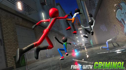Flying Stickman Rope Hero  screenshots 14