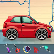 Kids Sports Car Wash Salon Auto Workshop Station