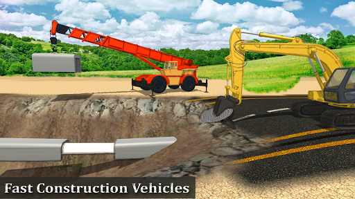 Heavy Construction Mega Road Builder apktram screenshots 15