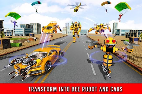 Bee Robot Car Transformation Game Mod Apk (Freeze Enemy) 2