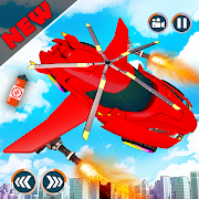 Flying Car Shooting Games - Drive Modern Cars Game