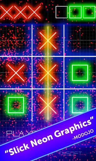 Tic Tac Toe Glow by TMSOFT  screenshots 1