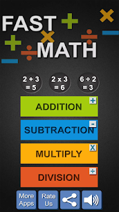 Fast Math for Kids with Tables Apk 3
