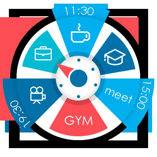 Planificador & calendario en widget de reloj