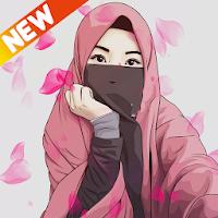 Hijab Muslimah Cartoon Wallpapers HD