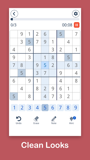Sudoku: Easy Sudoku & Free Puzzle Game 1.0.8 screenshots 1