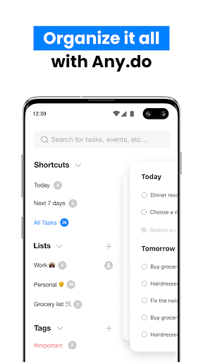 Any.do: To do list, Task, Reminders & Planner  screenshots 1