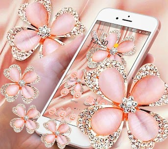Glitter Gold Rose Diamond Flower Theme 1.1.4 APK + MOD (Unlocked) 3