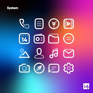 Aline White icon pack – linear white icons For Android 5