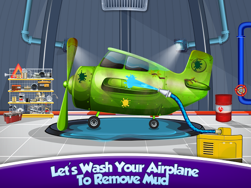 Kids Plane Wash Garage: Kids Plane Games 2.2 screenshots 1