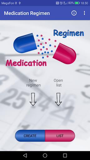 Medication regimen screenshot for Android
