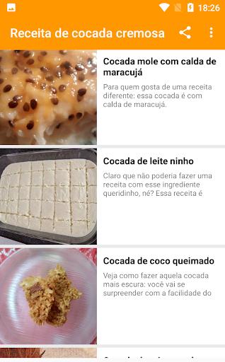 receita de cocada cremosa 1.0.5 screenshots 5