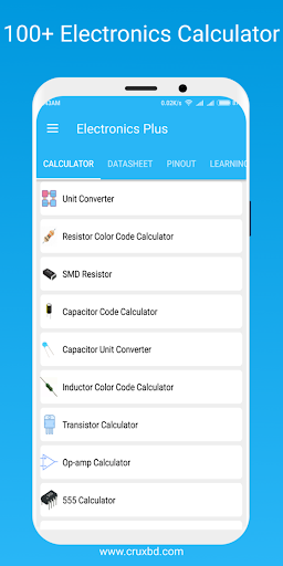 electronics plus :100+calculator,arduino,datasheet screenshot 1