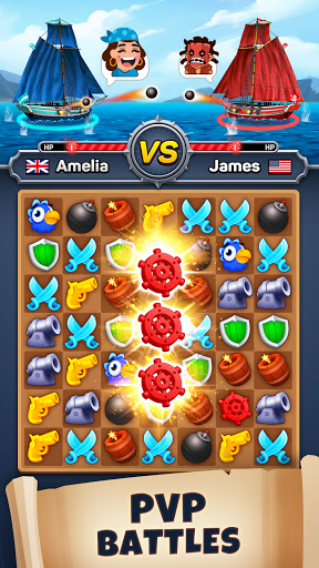 Pirates & Puzzles - PVP Pirate Battles & Match 3  screenshots 2