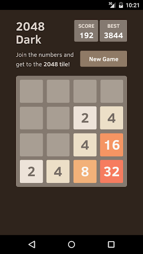2048 dark screenshot 1