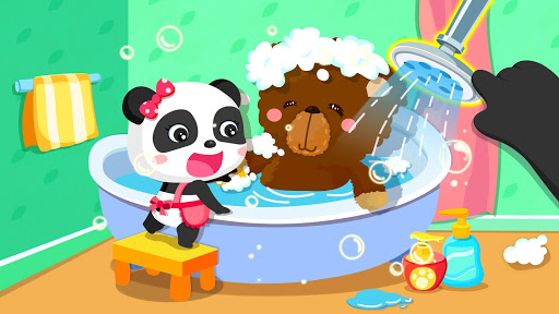 Baby Panda Happy Clean android2mod screenshots 2