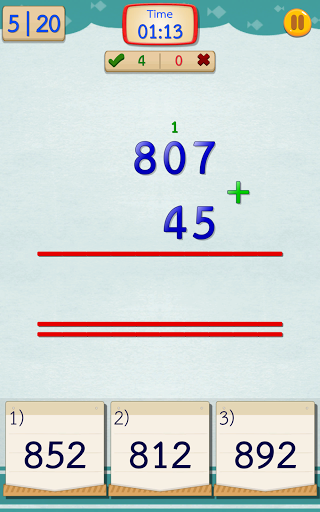 Math Fast Plus and Minus 2.3.1 screenshots 3