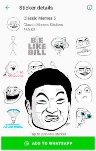 Classic Memes Stickers for WhatsApp WAStickerApps Apk Download 2021 5