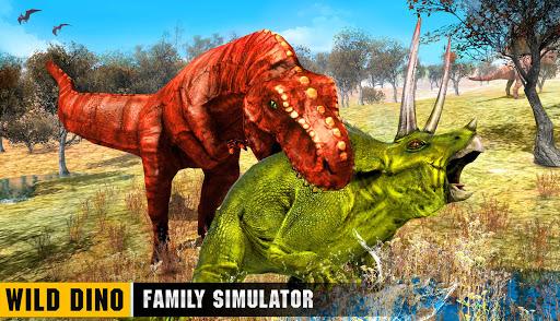 Wild Dino Family Simulator: Dinosaur Games android2mod screenshots 15