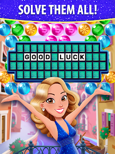 Bubble Pop: Wheel of Fortune! Puzzle Word Shooter Apkfinish screenshots 12