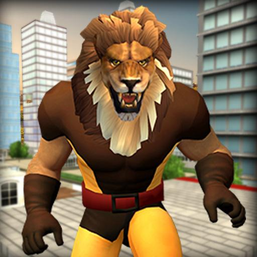 Scary Lion Crime City Attack