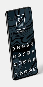 Aline White icon pack – linear white icons v1.0 [Patched] 3