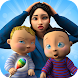 妊娠中のママと双子の赤ちゃん–生まれたばかりの赤ちゃんのケアゲーム
