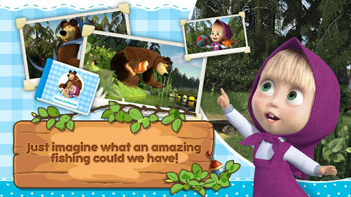 Masha and the Bear: Kids Fishing  screenshots 5