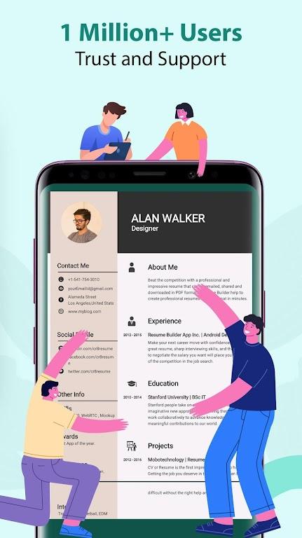Resume Builder & CV Maker - PDF Template Editor  poster 4