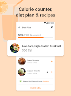 Calorie Counter, Diet Plan, Dietitians, Trainers Screenshot