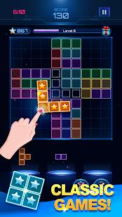 Glow Block Puzzle: Color Classic Puzzle Legend