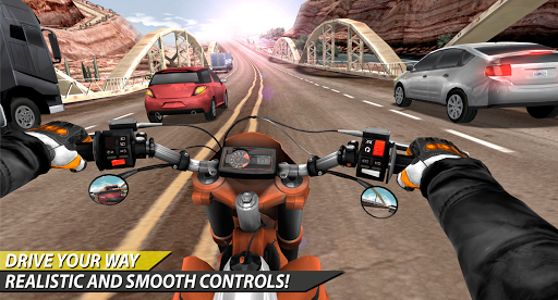 Moto Rider In Traffic apkpoly screenshots 13