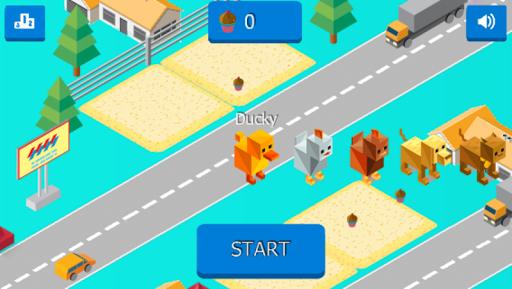Cross Road: Cute Animals - Chicken Game 3.4 screenshots 4