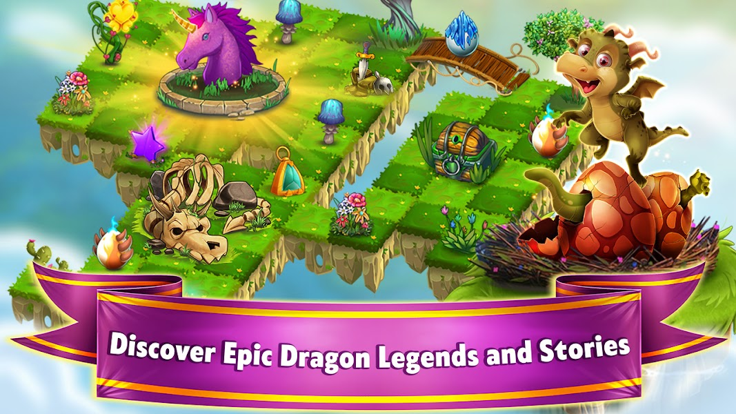 Dragon Land - Free Merge and Match Puzzle Game