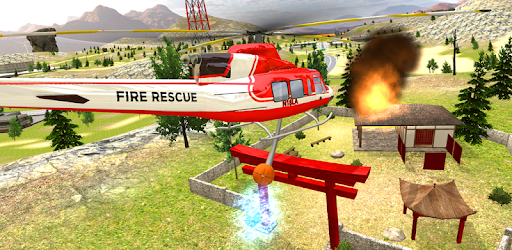 Screenshot of Helicopter Flying Simulator: Car Driving