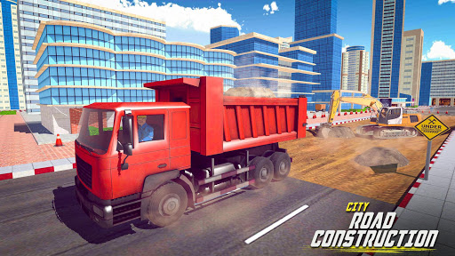 Heavy Sand Excavator Sim City Road Construction  screenshots 1