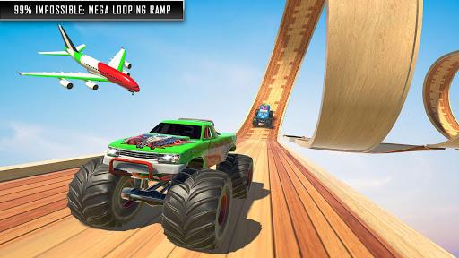 Mountain Climb Stunt Game: Monster Truck Games modiapk screenshots 1