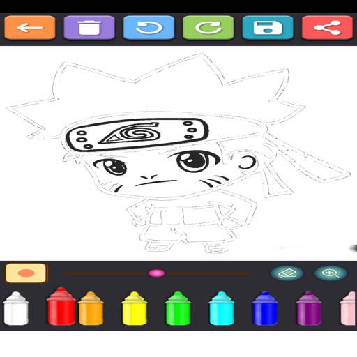 Coloring Ninja Konoha  screenshots 6