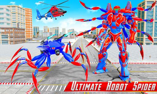 Spider Robot Car Game u2013 Robot Transforming Games android2mod screenshots 1