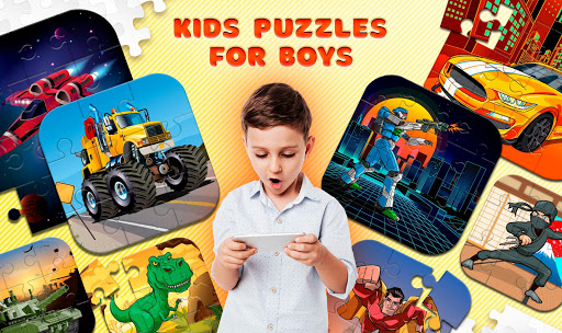 Kids Puzzles for Boys  screenshots 1