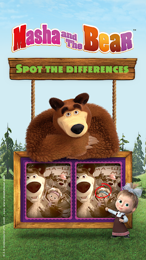 Masha and the Bear - Spot the differences  screenshots 1