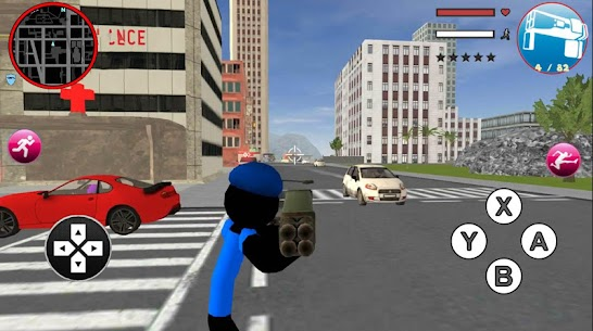 Grand Police Stickman Rope Hero Vegas Gangstar 2