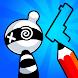 お絵描きヒーロー3D:お絵描きパズルゲーム
