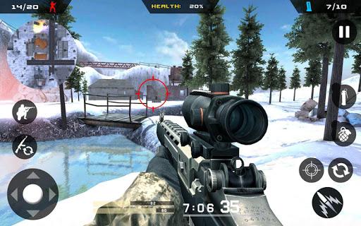 Winter Mountain Sniper - Modern Shooter Combat screenshots 15