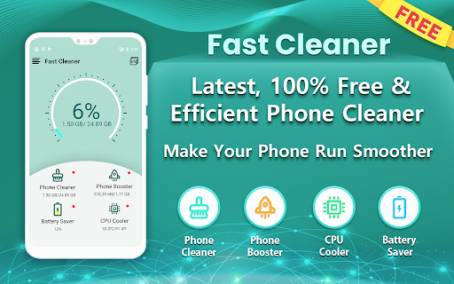 Fast Cleaner - Free & Most Popular Phone Cleaner 1.0.3 screenshots 1
