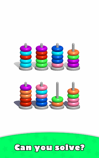 Sort Hoop Stack Color - 3D Color Sort Puzzle apkslow screenshots 13