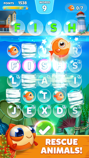 Bubble Words - Word Games Puzzle 1.4.0 Screenshots 4