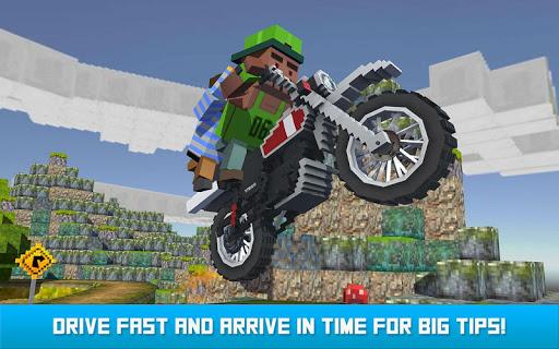 Blocky Moto Bike SIM: Winter Breeze android2mod screenshots 8