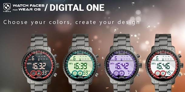 Digital One Watch Face Apk [Paid] Download for Android 2