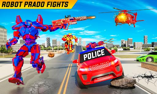 Flying Prado Helicopter Car Transform Robot Games 34 screenshots 1
